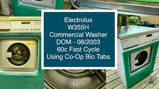 Electrolux Wascator W355H, Commercial Washer, 60c Fast Cycle Using Co Op Bio Tabs