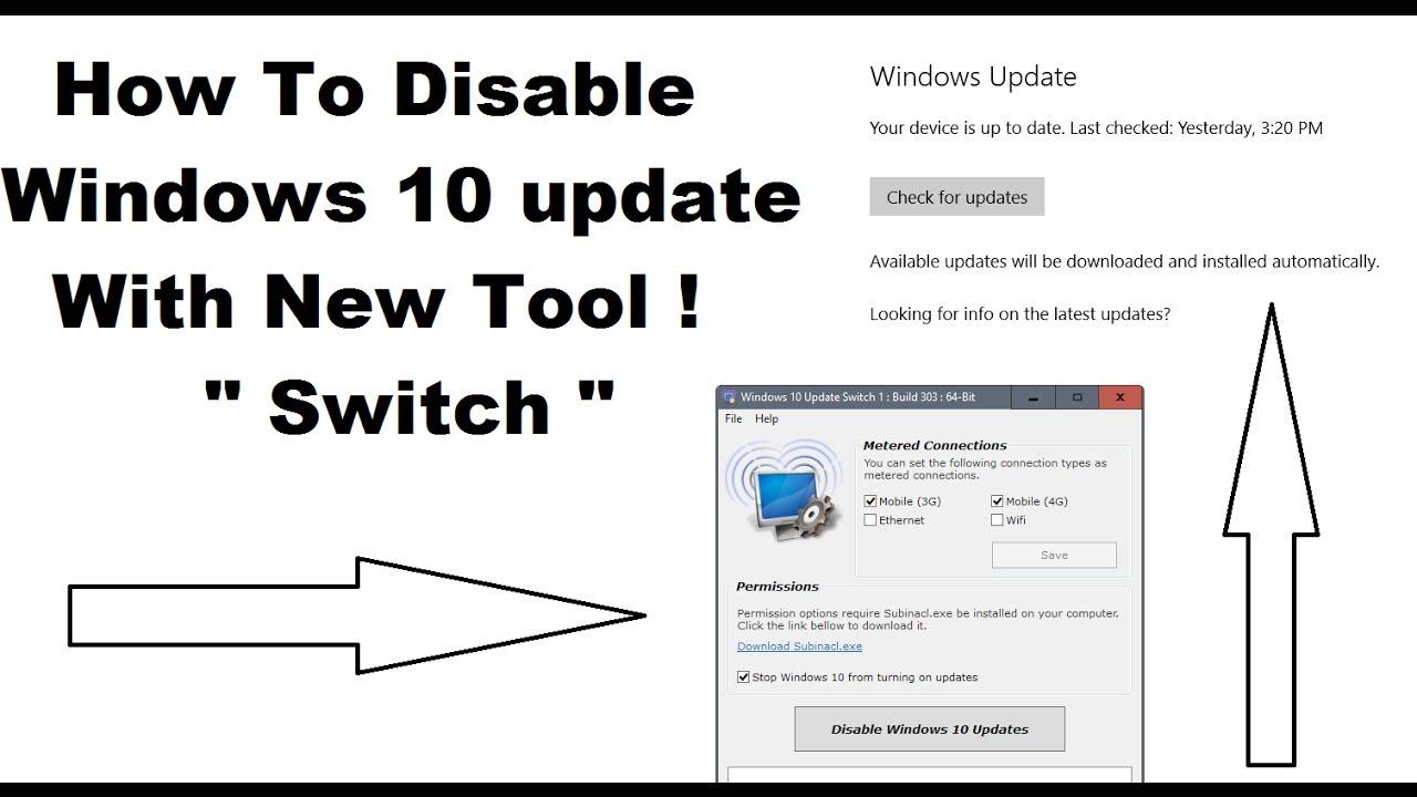 windows 10 turn off automatic updates ethernet
