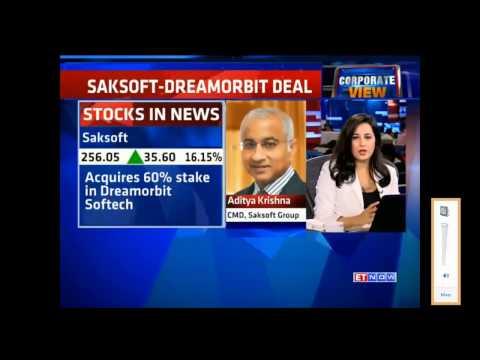 Saksoft acquires DreamOrbit - Aditya Krishna talks about it to ET Now