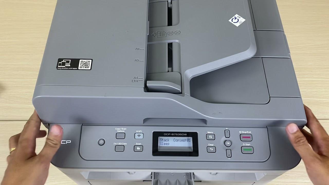 Copy sổ hộ khẩu máy in DCP-B7535DW - YouTube