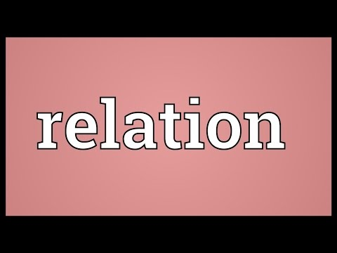 Relation Meaning