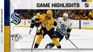 Kraken @ Predators 10/14/21 | NHL Highlights