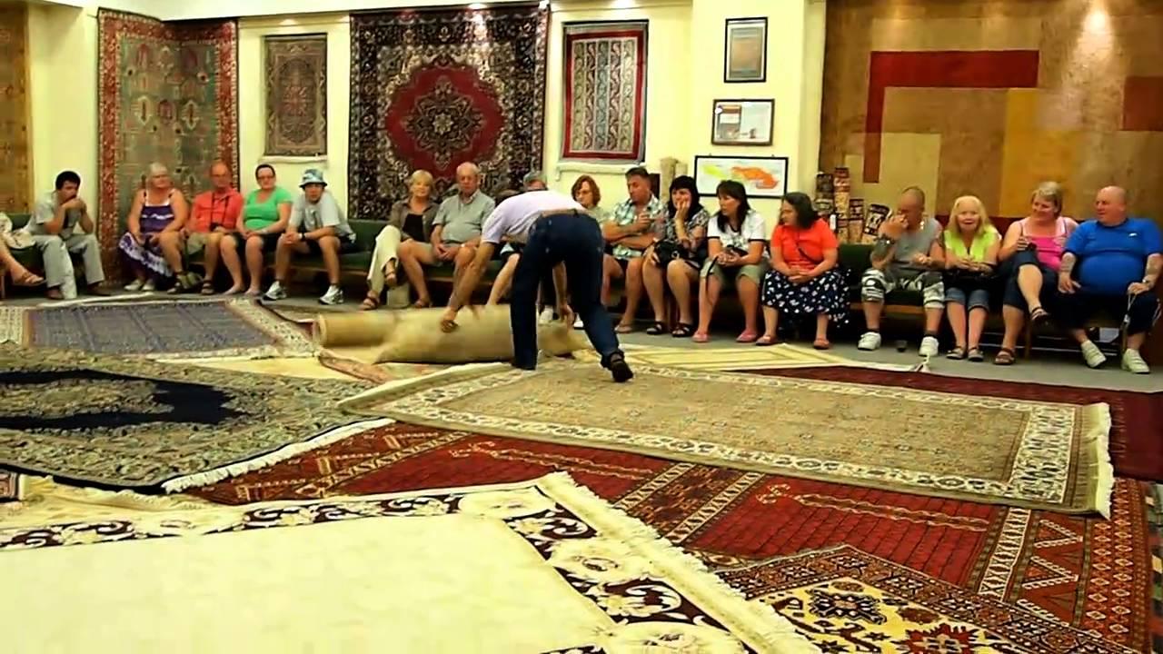 Turkey Carpet Factory Tour - YouTube