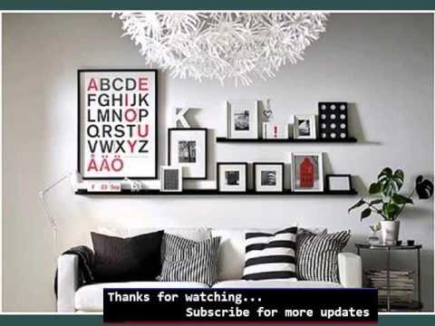 shelves living room beach chic ideas storage shelving picture floating youtube