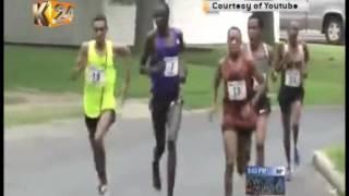 Kipruto attempts to slap Mekonen in US road race
