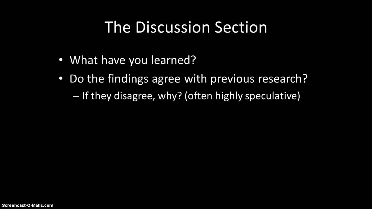 Dissertation discussion section structure