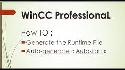 WinCC Professional TIA Portal : Generate runtime File and Autostart