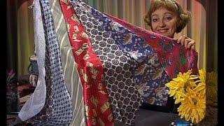 Шьем колье-воротник, сарафан, сумку и броши из старых галстуков. Мастер класс. Татьяна Лазарева