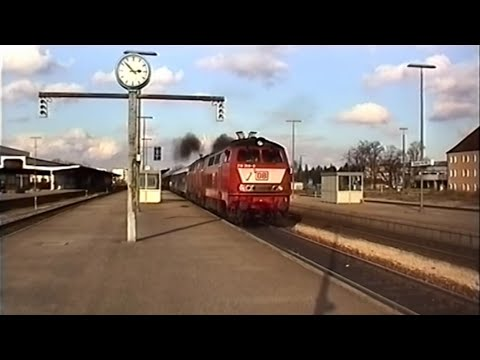 DB Br 218 Locomotives - October/November 1996