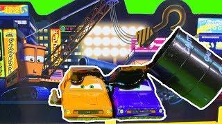Disney Cars 3 Takara Tomy Tokyo Race Track Set Lightning McQueen Cruz Ramirez  Get Slimed Toy Review