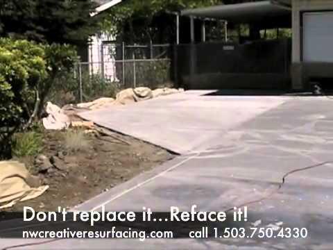 Concrete Driveway Resurfacing  YouTube