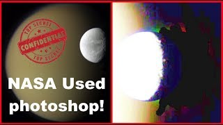 NASA Used Photoshop On Saturn Moon Titan! April 2019, UFO Sighting News, ET Data Base.