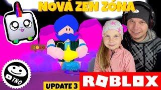NOVÝ ZEN OSTROV + UNICORN UPDATE -[✨SHINY❤️] Bubble Gum Simulator   Roblox   Tatínek a Barunka