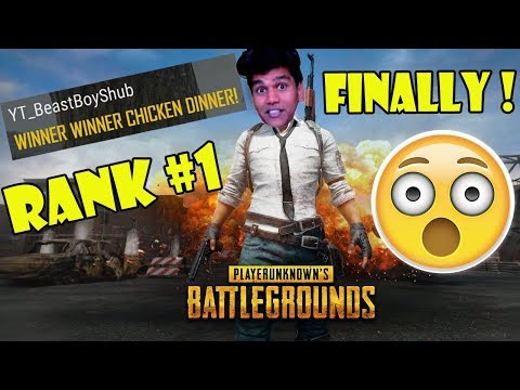 BeastBoyShub Gets Chicken Dinner First Win in PUBG While Streaming- Indian PUBG Funny Moments