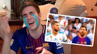 Real Madrid vs Barcelona 2-0 2017 REACCIONES DE UN HINCHA (SUPERCOPA)