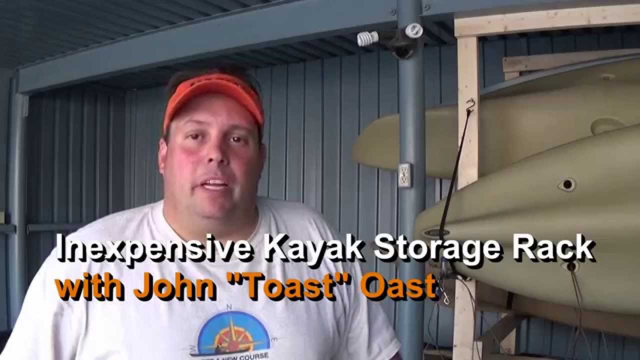 Inexpensive DIY 2x4 Kayak Storage Rack: Episode 182 - YouTube