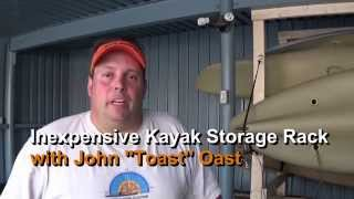 Inexpensive DIY 2x4 Kayak Storage Rack: Episode 182
