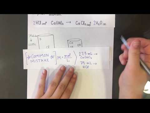 Titration of HCl and Ca(OH)2
