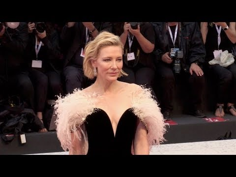 Cate Blanchett on the red carpet for the Premiere of A Star is Born at the Venice Film Festival