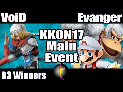 KKON17 Main Event: SSB Wii U - WR3 - VoiD vs Evanger