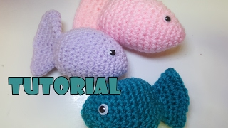 Tutorial pesciolini amigurumi all'uncinetto - tutorial crochet fish - Facilissimi - very easy