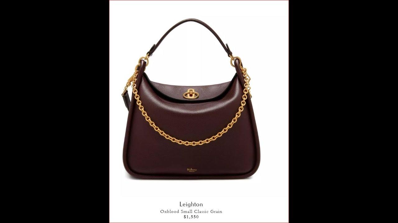 8e2602d147 Mulberry Leighton Designer HANDBAG Show (Large, Black) - YouTube