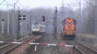Ćmelak (trzmiel) S-261 KOLPREM & Traxx z pociągiem przyśpieszonym Kolei Ślaskich