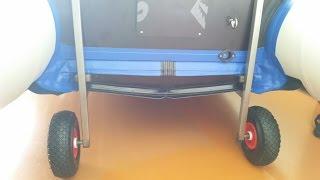 Съемные колеса на транец. Лодка Солар 350