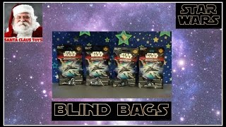 SANTA CLAUS: STAR WARS micromachines BLIND BAGS Toys unboxing