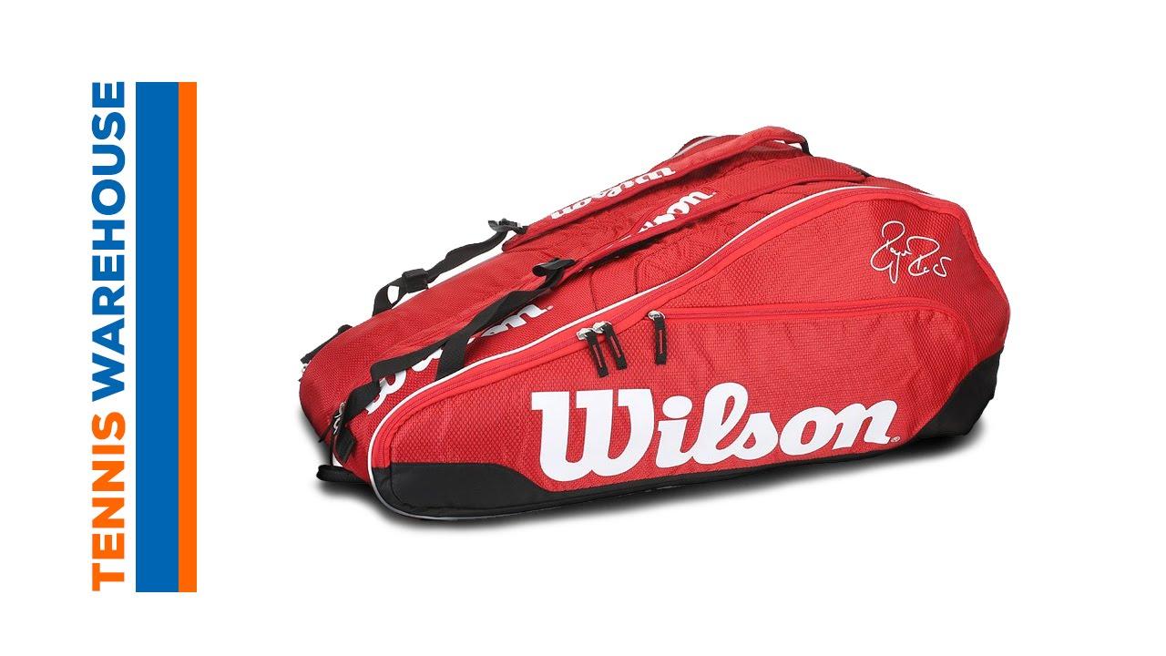 6f7cb5254ef Wilson Federer Team 12 Pack Bag - YouTube