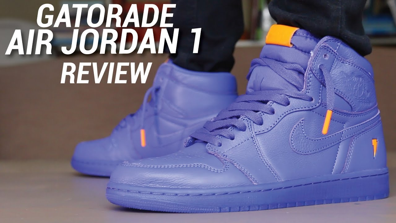 save off 862d8 50e00 GATORADE AIR JORDAN 1 GRAPE PURPLE REVIEW