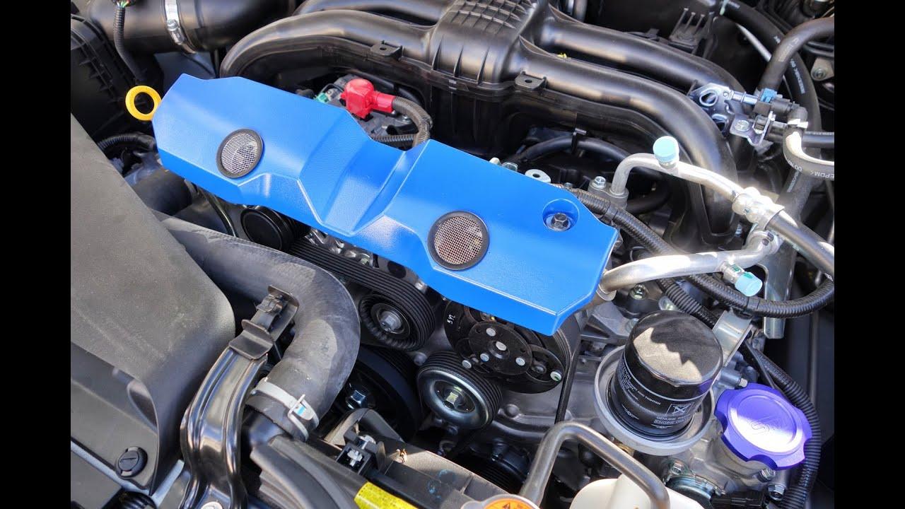 Subaru Crosstrek Fan Belt Cover Mod - YouTube
