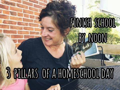 Finish School by NOON - 3 Pillars of a Homeschool Day | Front Porch Catholic
