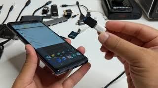 تجربة أسلاك التايب سي على جالكسي نوت ناين Galaxy Note 9 TypeC