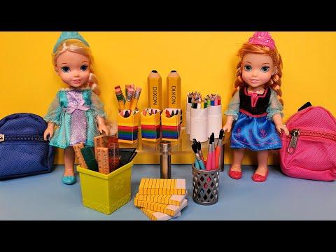 School supplies shopping ! Elsa & Anna toddlers - Barbie