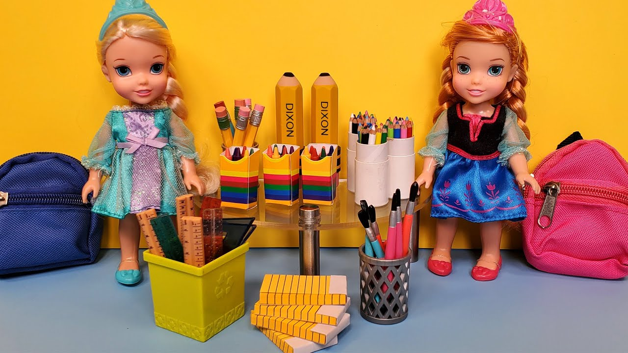 Download School supplies shopping ! Elsa & Anna toddlers - Barbie