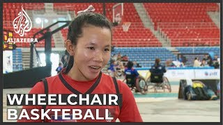 Women wheelchair basketball teams compete in Thailand