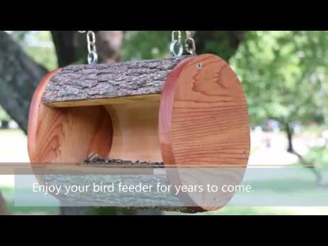 Hanging Log DIY Bird Feeder Plans - YouTube