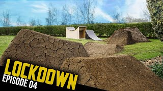 BUILDING AND RIDING THE MTB WHALE TAIL FOR THE TRAILS!! LOCKDOWN EP4