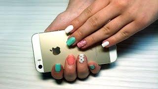 Дизайн ногтей гель-лак Shellac - Дизайн ногтей блестками, стразами (уроки дизайна ногтей)