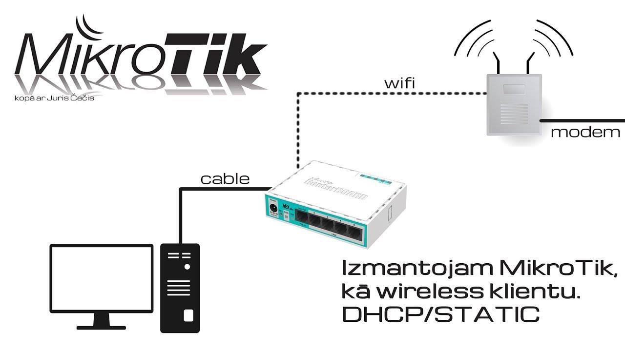 Part 2 How to configure Mikrotik Wireless + Client + PC