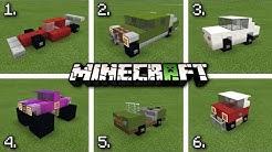 ✔️ Minecraft - 6 Cool CARS 🚗 & TRUCKS 🚚 [ Tutorial ]