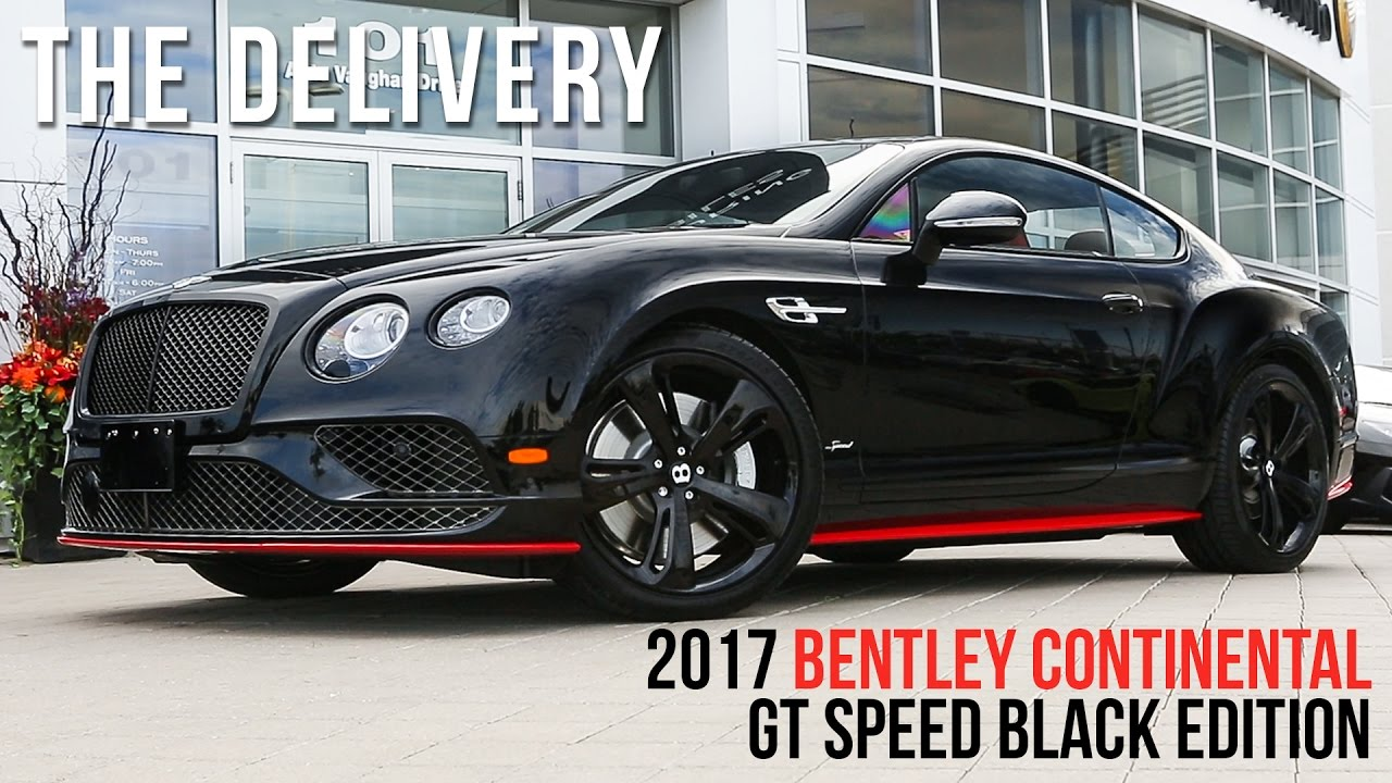Bentley gt speed black edition