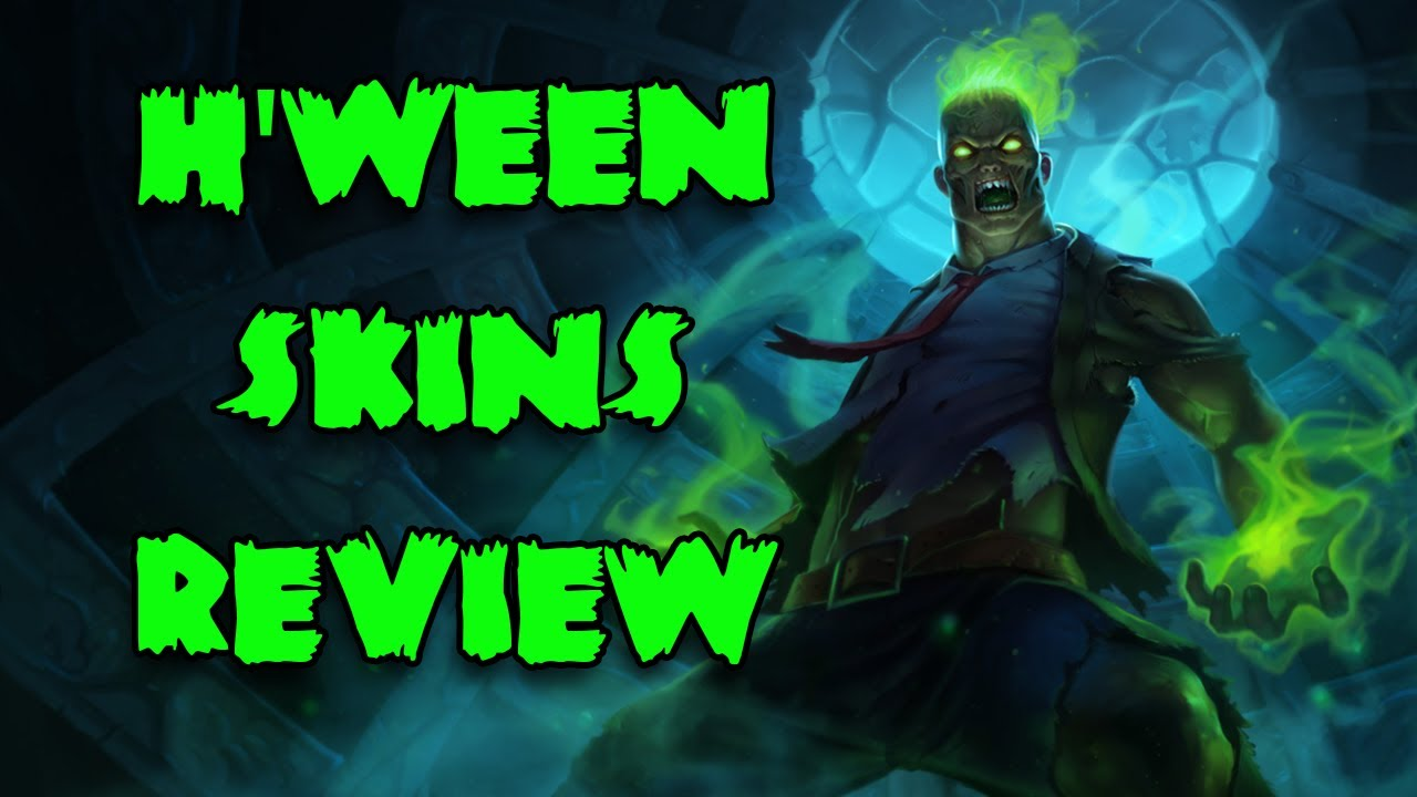 League of Legends Halloween Skins Review - YouTube