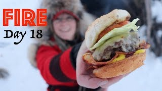 BACON CHEESEBURGER on a Campfire! | 28 Day Fire Challenge | Food & Fire