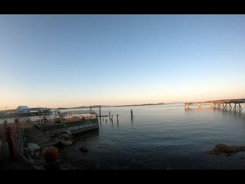 Sidney BC Sunset Bike Ride Around Waterfront And Town