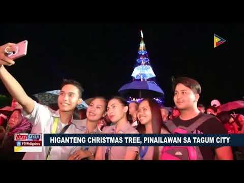 FEATURE: Higanteng Christmas tree, pinailawan sa Tagum City