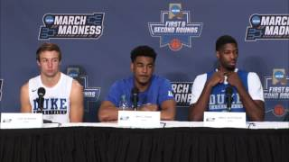 News Conference: Duke First Round Preview