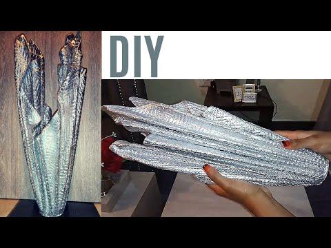HOW TO MAKE CEMENT FLOWERPOT USING A TOWEL | DIY