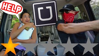 PICKED UP MY GIRLFRIEND IN AN UBER UNDER DISGUISE! SHE GOT OUT